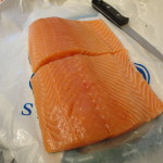 Top Knife for salmon cutting