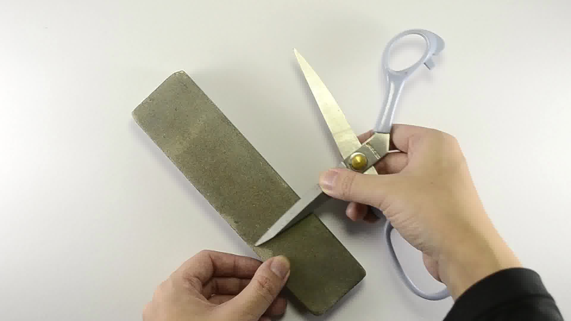 how to sharpen scissors with a file