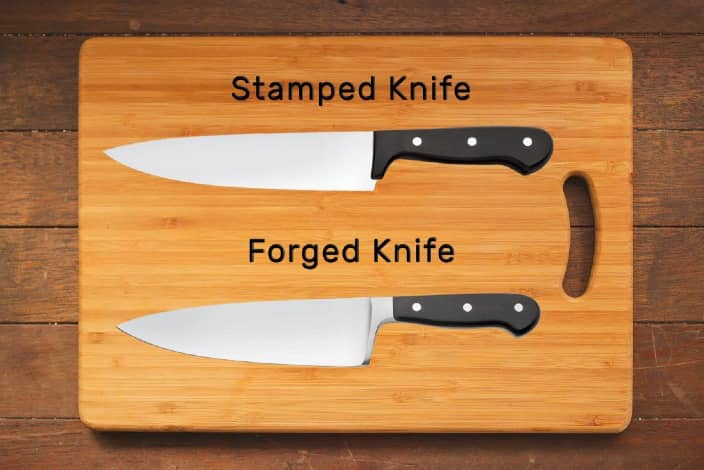 Forged and Stamped Knives